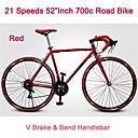 """52 """"bicicleta carretera pulgadas 700c Rockefeller ™ montaba en bicicleta de 21 velocidades v freno de 70 radios rueda pinchada curva del manillar"""