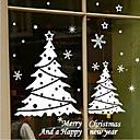 """Árboles de navidad clásicos ventana pegatina alegre (21.6 """"W x 39.36"""" l)"""