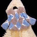 qamp;abrigos de piel delgada rombo patrón de manga larga de las mujeres de Y