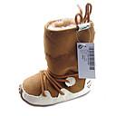 botas de los zapatos de confort botas para la nieve de los niños planos del talón a media pierna con cordones de