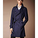 Mens Slim Lapel Double Breasted Trench Coat