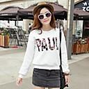 Womens Fashion Word Line Design Loose Pullover Sweatshirts