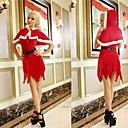 chal con sombrero traje adulto rojo de mujer de Navidad