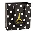 bolsas de oro torre de regalo con puntos blancos