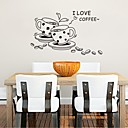 Wall Stickers Wall Decals, Coffee Kitchen Home Decoration Mural PVC Wall Stickers