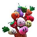 10pcs de la fruta con la expresión del dedo de la felpa títeres niños hablar prop