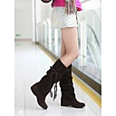 Loubo Womens Flat Heel Mid-Calf Slouch Boots