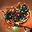 100LED 6m multicolor línea gruesa cadena de luz de Navidad (AC220V)