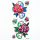 rosas tatuaje temporal a prueba de agua moho muestra pegatina para tatuajes arte corporal (18.5cm  8.5cm)