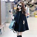 color sólido ajuste holgado abrigo manto de dama mujeres