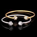 alta calidad aaa lindo  circón zirconia platino oro brazalete pulsera 18k joyería plateada regalo para las mujeres
