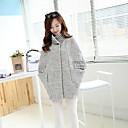 YINQIANWomens Cloak Cape Sleeve Long Woolen Overcoat