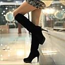 Womens Shoes Platform Round Toe Stiletto Heel Knee High Boots
