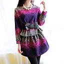 color de contraste ajustado vestido de tweed de los kors de las mujeres