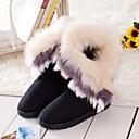 2014 botas nuevas botas de piel de un conejo imitación cálida piel de zorro de las mujeres Enthone am079 negro