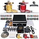 2 Rotary Tattoo Machine Gun 40 de tinta de color 10-24-2 Kit con un caso firme Negro