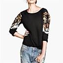 además de las mujeres tamaños de la camiseta del suéter de impresión