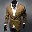 quiera de manga larga solapa fina traje causual cuello chaqueta de los hombres