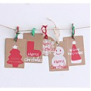 Christmas Kraft Paper Christmas Tag Set Of 12 (Not Including Hemp Rope)