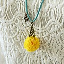 Womens Long Retro Fresh Clover Flower Necklace