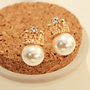 Leo heartWomens Korea Diamonade Pearl Elegant Earrings