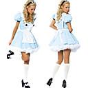 Alice Classic en disfraces de Halloween de las maravillas Mujeres Azul poliéster