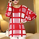 Womens Checked Loose Sweater(More Colors)