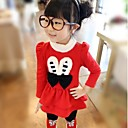 Girls Cute Bunny Casual Two-Piece Suit(DressLeggings)