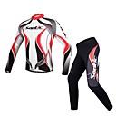 SANTIC Maglia con pantaloni da ciclismo Per uomo Maniche lunghe Bicicletta Traspirante / Strisce riflettentiMaglietta/Maglia /