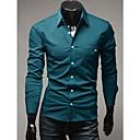 YZY Mens Braid Decorated Slim Fit Shirt