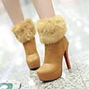 Womens Shoes Platform Round Toe Stiletto Heel Ankle Boots with Split Joint More Colors available