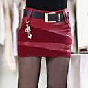 armarios de mini faldas de cuero de lana de incernwomen con colgante (más colores)