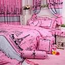 fadfay @ rosa Mädchen Eiffelturm Druck Bettwäsche-Set koreanische Tupfen Rüschen Bettwäsche-Sets Königin