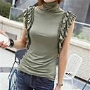 Womens Heaps High Collar Falbala T-Shirt