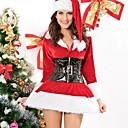 bebé precioso traje de santa de Navidad de terciopelo rojo de la mujer de manga larga con cinturón (en la talla M)
