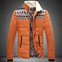Skymoto Mens Stand Collar Warm Plus Size Patchwork Cotton Coat