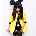 Girls Fall and Winter Wear Hem with Yarn Cotton Padded Clothes with Long Sleeve Warm Coat