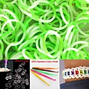 600PCS WhiteGreen 4-Segment DIY Twistz Silicone Rubber Bands for Rainbow Loom Bracelets with HookS-clips