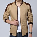 Mens The New Tide Fall Collar Spell Hit Color Short Slim Leather Jacket  Outerwear