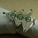Crystal Snowflake Christmas Tree Napkin Ring Many Colors, Acrylic, 4.5CM, Set of 12