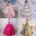 4 piezas de la muñeca de Barbie en alquiler en Roma Princess Style esteticismo Vestido
