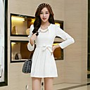 ICED™ Womens Fashion Long Sleeve with Necklace with Belt Dress(More Colors)