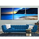 Personalized Canvas Print The Seaside Scenery 30x30cm  40x40cm  60x60cm  Framed Canvas Painting Set of 3