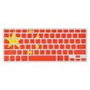 angibabe cubierta del teclado 0.1mm ultra-delgada de silicio transparente patrón de bandera china para el aire del macbook / pro / retina