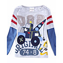 Boys Fashion T shirt Round Neck Cartoon Car Printed Long Sleeeve Antumn Winter Children Tees