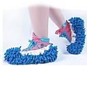 1p trapeador de piso zapatilla pies cubierta de pulido limpieza polvo limpiador de zapatos del pie