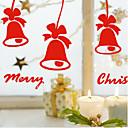 """campanas encantadoras clásico Etiqueta de la ventana de la Feliz Navidad (9 """"W x 7.92"""" l)"""