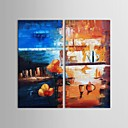 Hand Painted Oil Painting Abstract World Colorful Modern Art with Stretched Frame