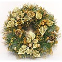 35cm doradas puertas corona de Navidad decorado decoraciones de Navidad