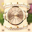 elegante todo reloj pulsera de diamantes de imitación partido de las mujeres de amapola